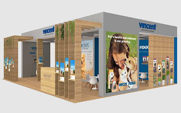 Render stand fieristico Vincent - Zoomark